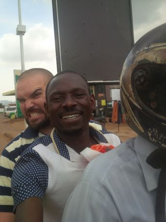 Me and Dismas trying to locate a pulse ox in Kampala.