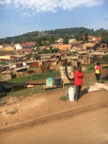 Riding to Kampala to get Megan's van