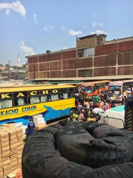 Bus station in Kampala