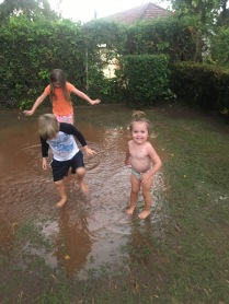 Loving the puddle.